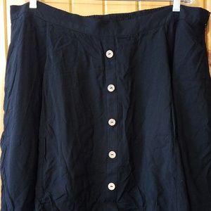 Modcloth Black Button Skater Skirt Size 2X